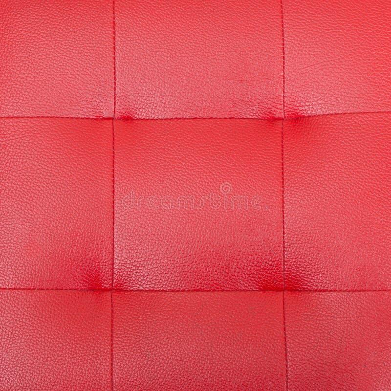 Modello e superficie del cuoio di lusso rosso del sofà fotografie stock