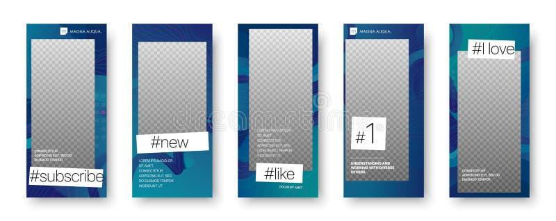 Modello editabile d'avanguardia per le storie sociali di media royalty illustrazione gratis