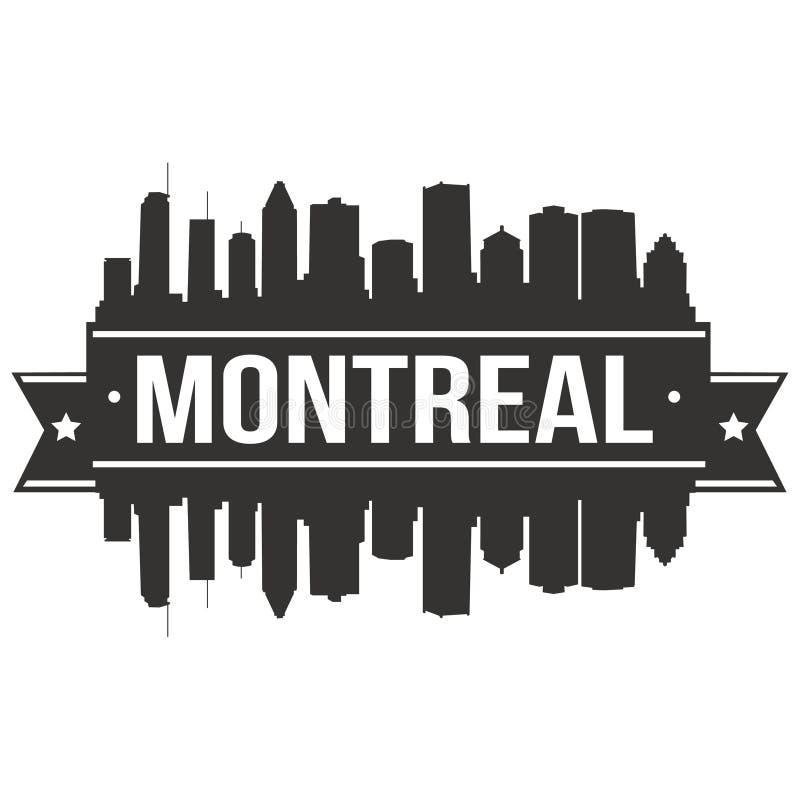 Modello editabile della siluetta di Art Design Skyline Flat City di vettore dell'icona di Montreal Canada Nord America illustrazione di stock
