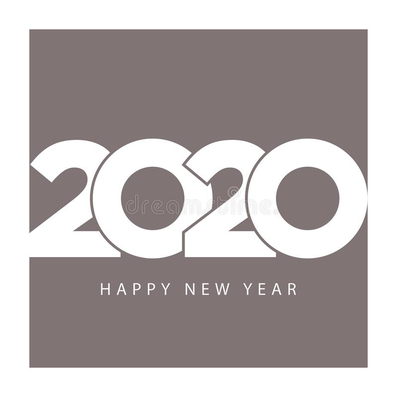 Modello elegante del calendario di affari 2020 buoni anni illustrazione di stock