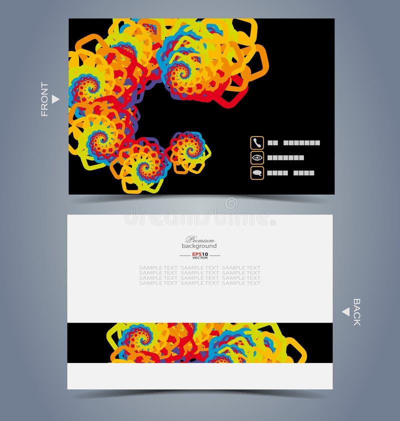 Modello elegante di progettazione di biglietto da visita illustrazione di stock