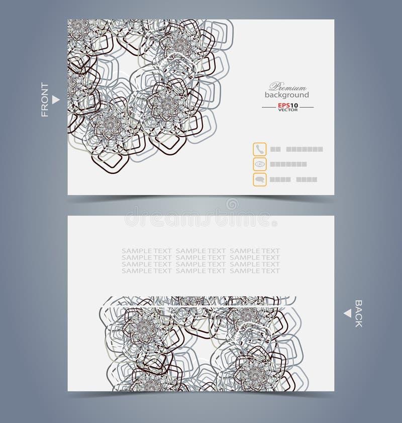 Modello elegante di progettazione di biglietto da visita royalty illustrazione gratis