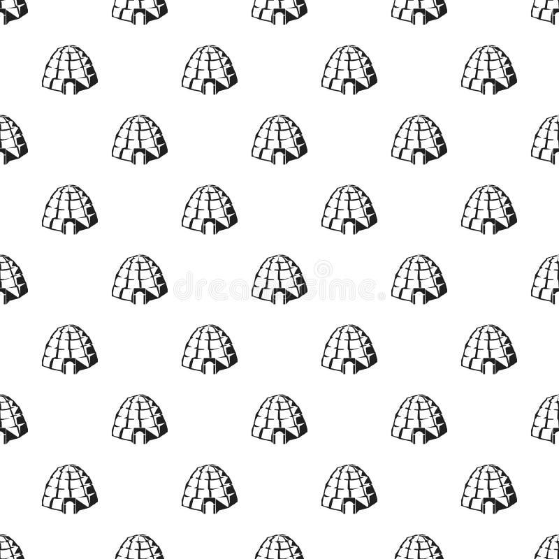 Modello eschimese dell'iglù senza cuciture royalty illustrazione gratis