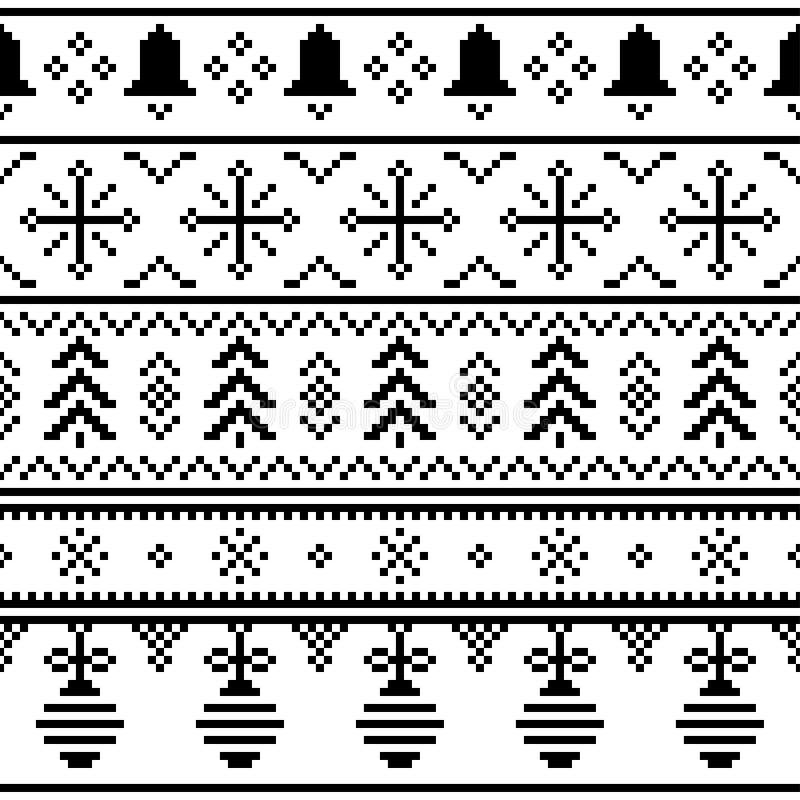 Modello etnico di Buon Natale vettore tribale dell'illustrazione di progettazione di evento di natale colore fissato progettazion illustrazione vettoriale