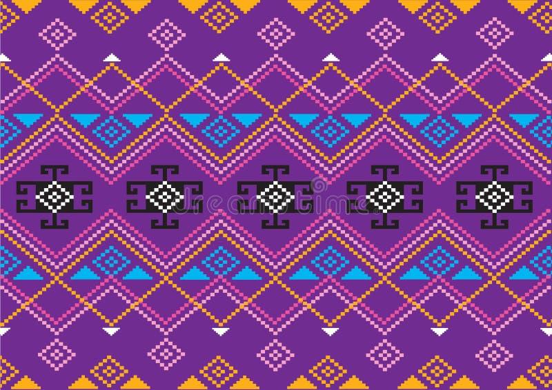 Download Modello etnico geometrico illustrazione vettoriale. Illustrazione di colorful - 56881577
