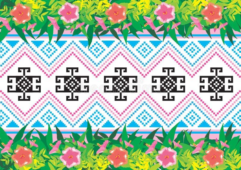 Download Modello etnico geometrico illustrazione vettoriale. Illustrazione di infinito - 56881675