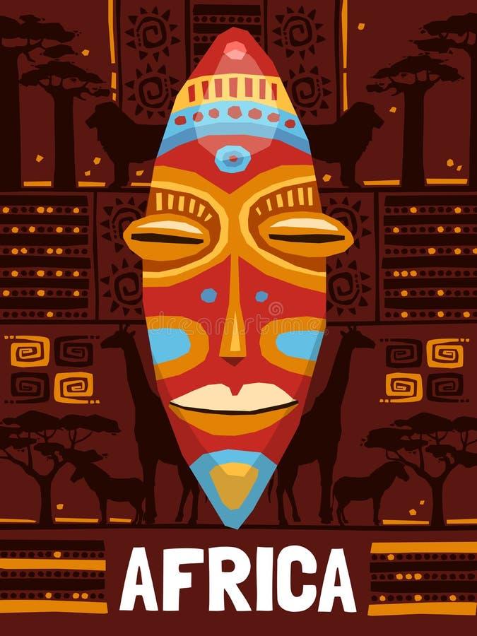 Modello etnico tribale della maschera royalty illustrazione gratis