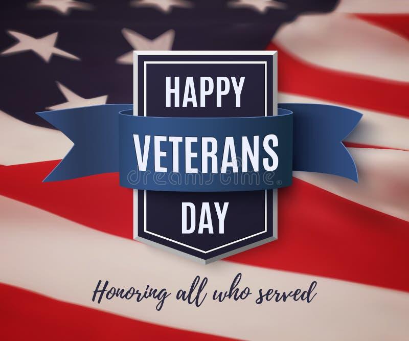 Modello felice del fondo di giornata dei veterani illustrazione vettoriale