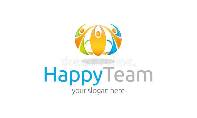 Modello felice di logo del gruppo illustrazione vettoriale