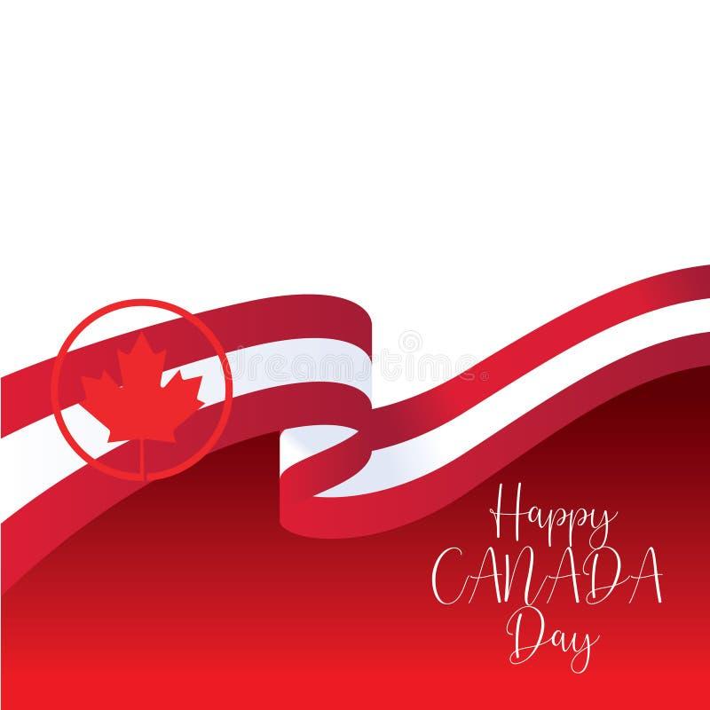 Modello felice di vettore di giorno del Canada - vettore illustrazione di stock