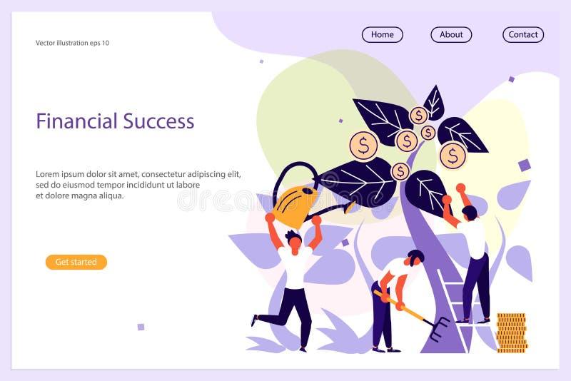 Modello finanziario del sito Web di successo royalty illustrazione gratis