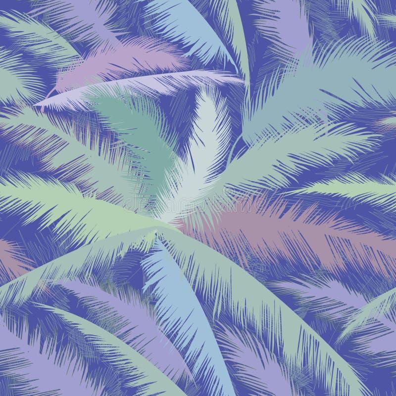 Modello floreale con le foglie della palma Struttura tropicale della natura di estate illustrazione vettoriale