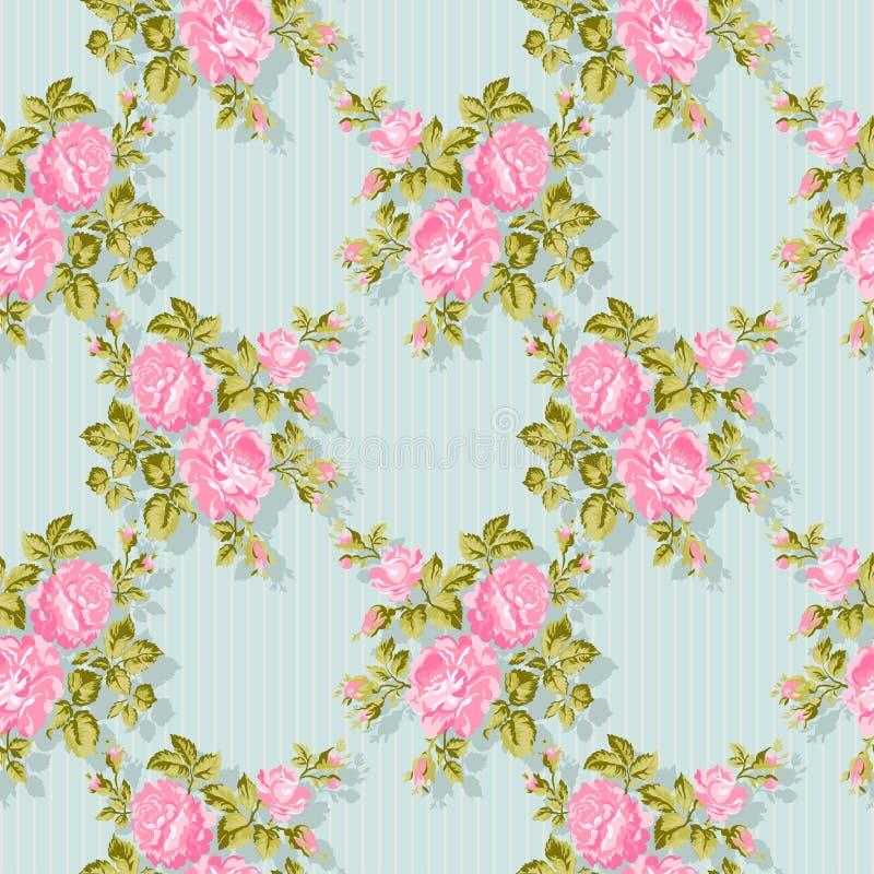 Modello floreale con le rose rosa Priorità bassa floreale di vettore Facile pubblicare Perfezioni per gli inviti o gli annunci royalty illustrazione gratis