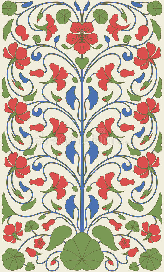 Modello floreale d'annata di stile di Pasqua illustrazione vettoriale