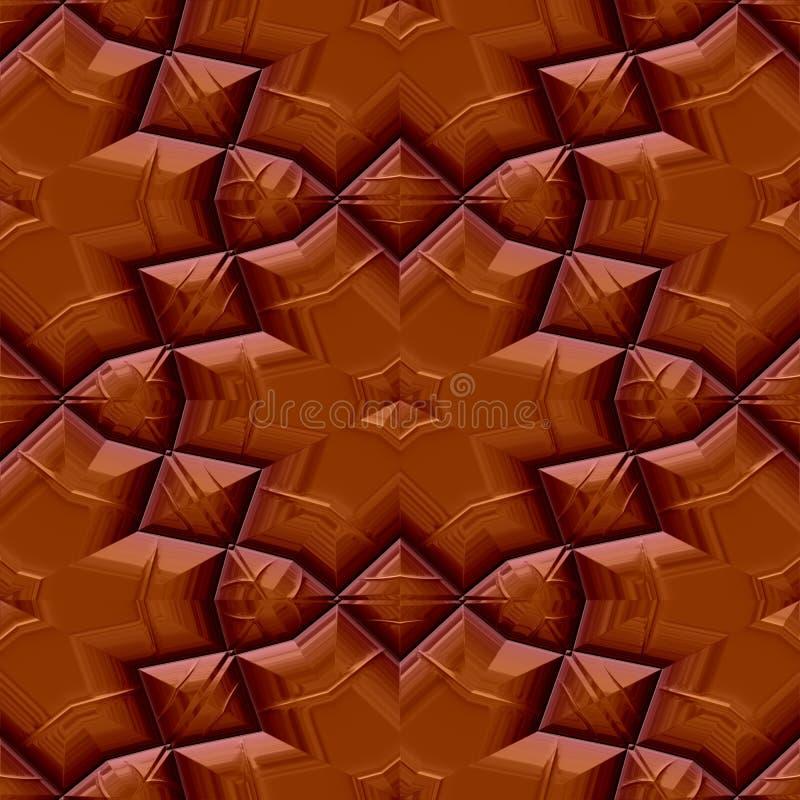 Modello floreale del cioccolato senza cuciture illustrazione vettoriale