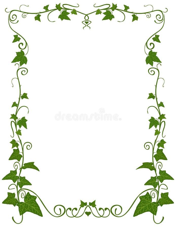 Modello floreale dell'edera illustrazione vettoriale