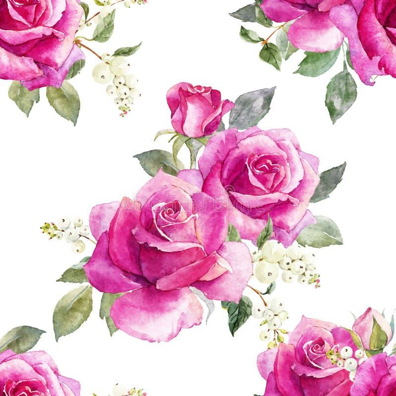 Modello floreale di vettore dell'acquerello royalty illustrazione gratis