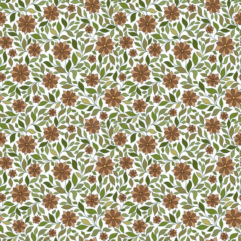 Modello floreale di vettore senza cuciture con le piante variopinte di fantasia e illustrazione vettoriale