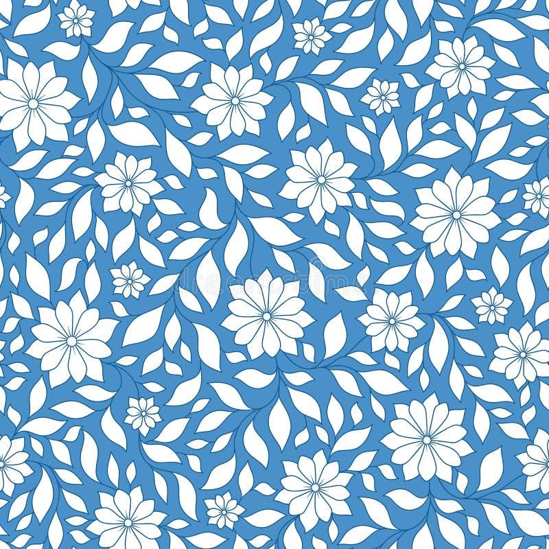 Modello floreale di vettore senza cuciture con le piante variopinte di fantasia e illustrazione di stock