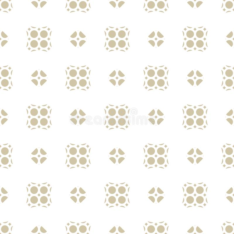 Modello floreale geometrico astratto senza cuciture di vettore Ornamento orientale beige e bianco illustrazione vettoriale