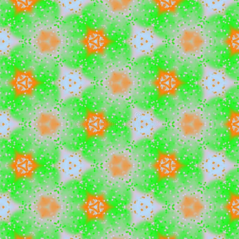 Modello floreale moderno della molla nel motivo dell'acquerello in arancio ed in verde chiaro, per il tessuto del bambino royalty illustrazione gratis
