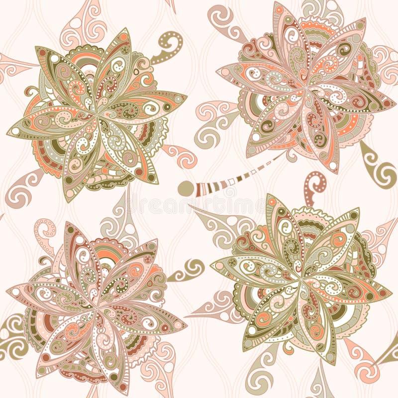 Modello floreale nello stile orientale royalty illustrazione gratis