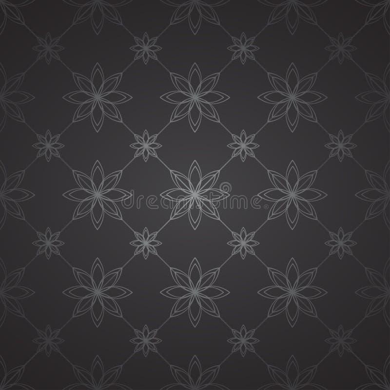 Modello floreale scuro royalty illustrazione gratis