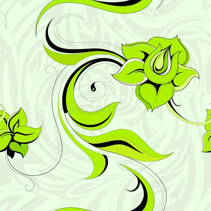 Download Modello Floreale Senza Cuciture Illustrazione Vettoriale - Illustrazione di verde, fiore: 30830185