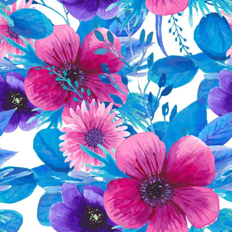 Download Modello Floreale Senza Cuciture Dell'acquerello Illustrazione Vettoriale - Illustrazione di floreale, mano: 55359628