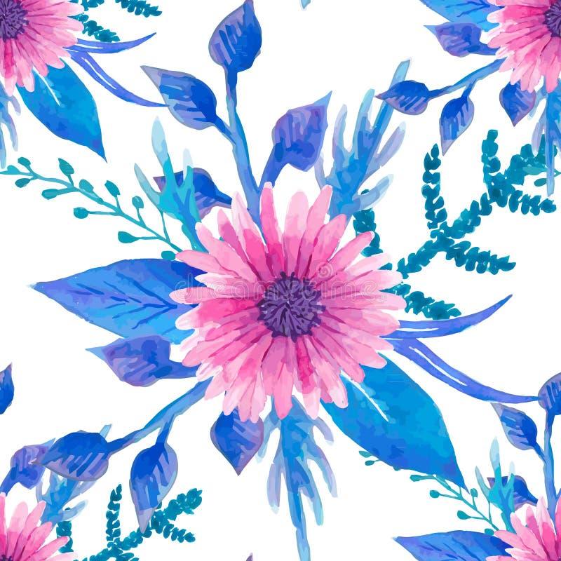 Download Modello Floreale Senza Cuciture Dell'acquerello Illustrazione Vettoriale - Illustrazione di bello, grafico: 55359731