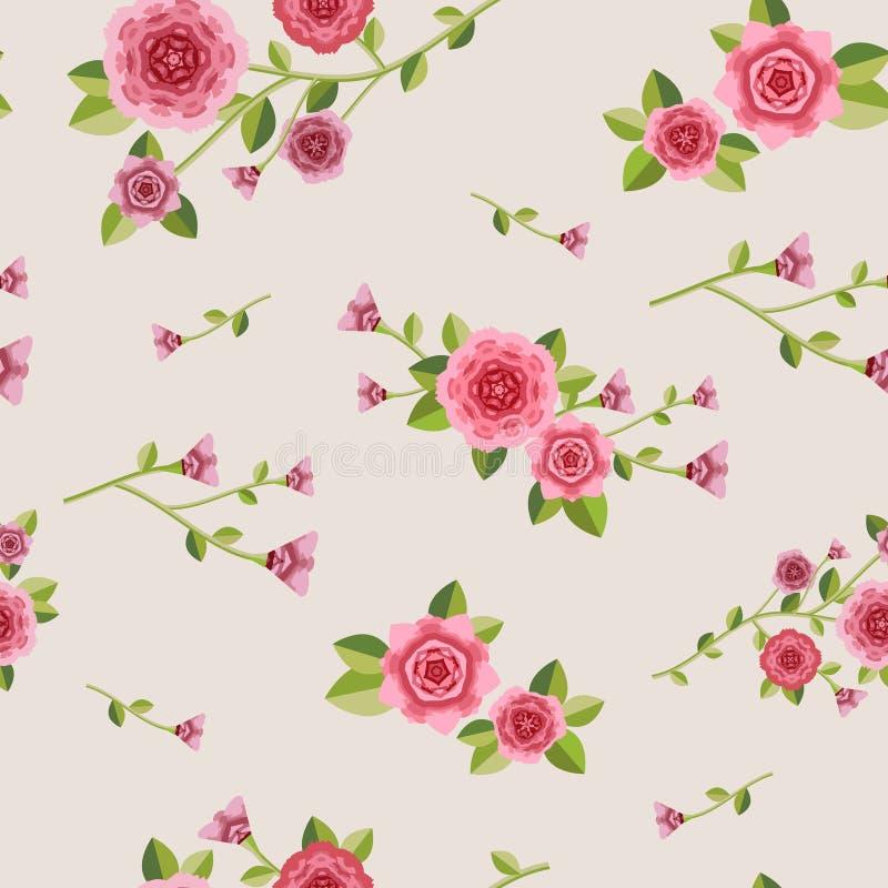 Modello floreale senza cuciture grazioso illustrazione di stock