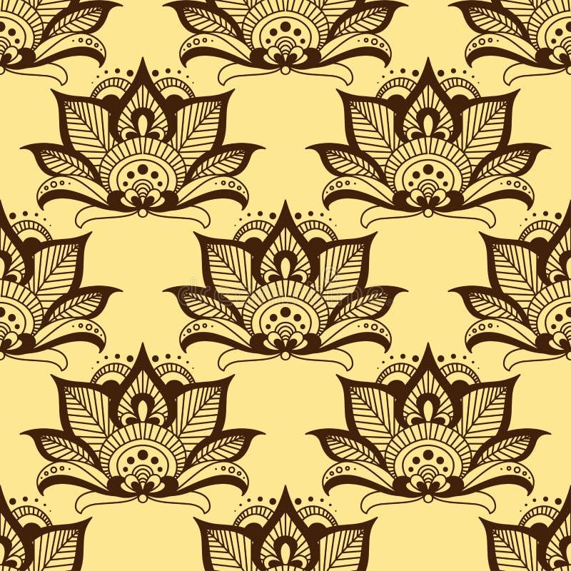 Modello floreale senza cuciture marrone persiano di Paisley royalty illustrazione gratis
