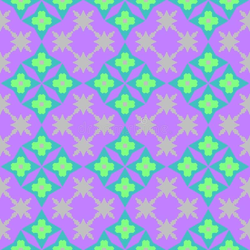 Modello floreale variopinto astratto delle mattonelle Fondo piastrellato multicolore di struttura Vettore senza giunte illustrazione vettoriale