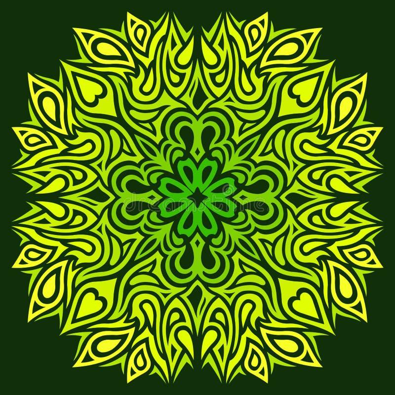 Modello floreale verde mistico royalty illustrazione gratis