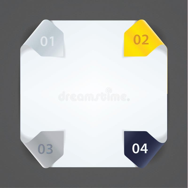 Download Modello Fresco Di Vettore. Quattro Frecce Nei Colori Solidi Per I Vostri Web Illustrazione Vettoriale - Illustrazione di comunicazione, information: 30831582