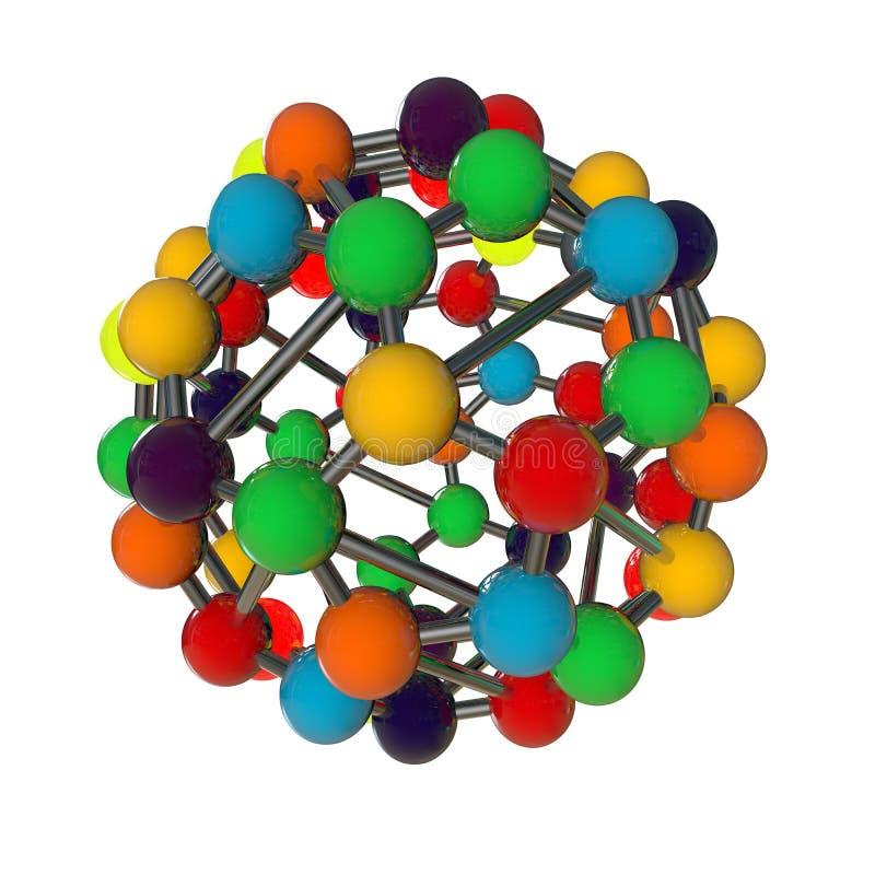 modello generato da computer della molecola fotografia stock libera da diritti