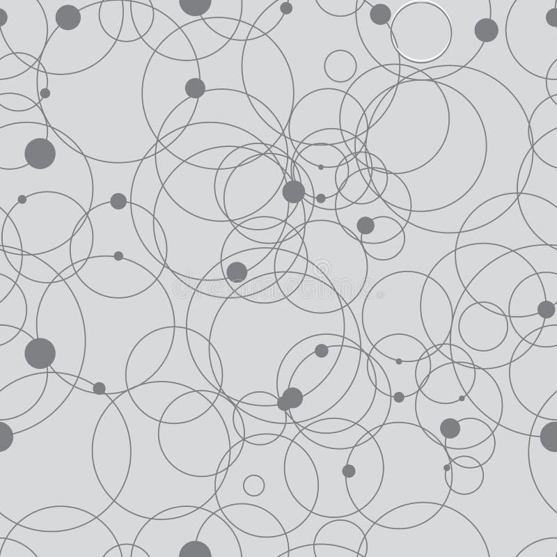 Modello geometrico astratto dai punti, cerchi Struttura grigia e bianca royalty illustrazione gratis