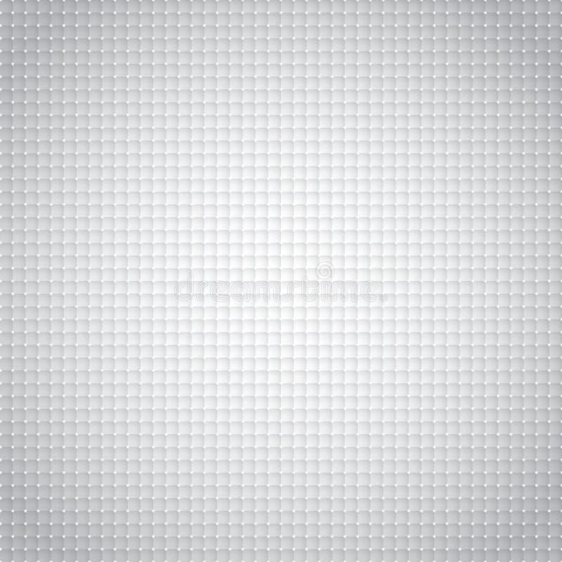 Modello geometrico astratto dei quadrati 3D con i punti leggeri bianchi indietro illustrazione vettoriale