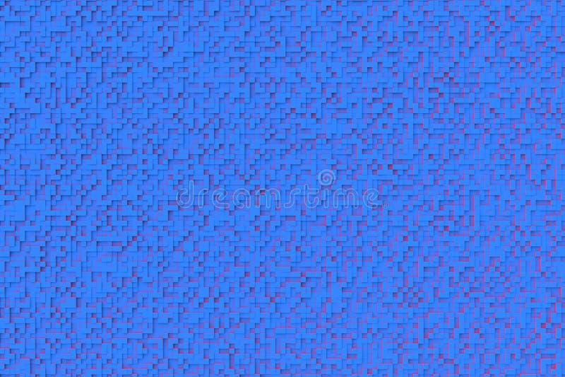 Download Modello Geometrico Astratto Di Progettazione Del Fondo Del Cubo Del Blu 3d Piccolo Con La Sorgente Luminosa Secondaria Rossa Illustrazione di Stock - Illustrazione di modello, rappresentazione: 117975735
