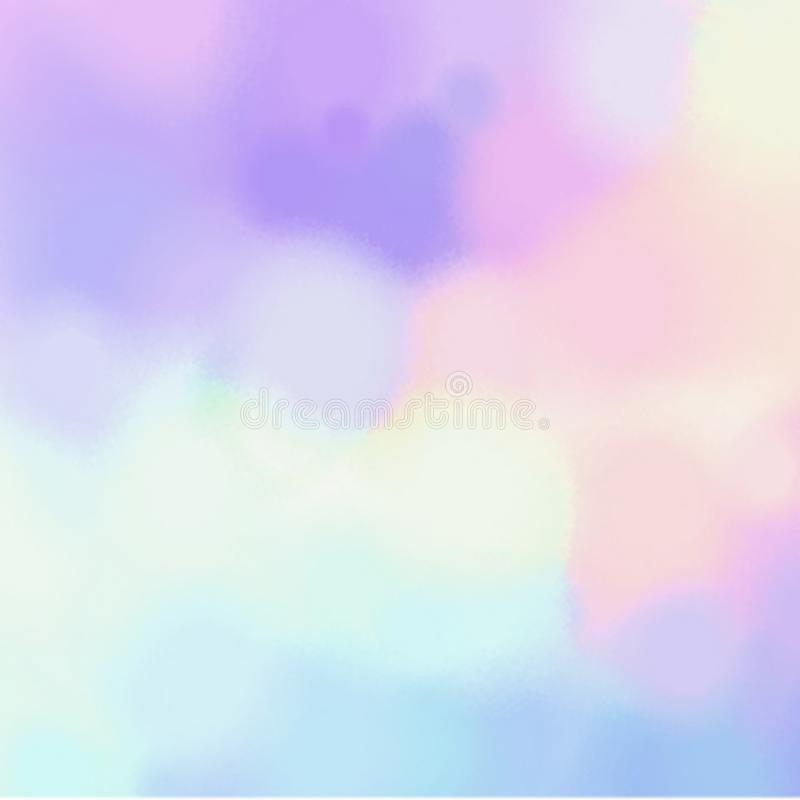 Modello geometrico confuso dei punti Struttura astratta dell'acquerello Fondo giallo lilla blu di rosa illustrazione vettoriale