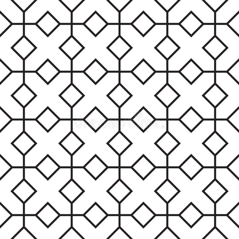 Modello geometrico d'annata senza cuciture illustrazione vettoriale