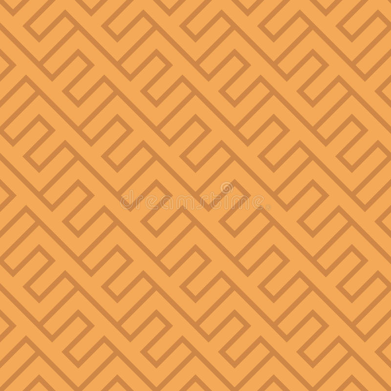 Modello geometrico d'annata senza cuciture Backg etnico della diagonale di vettore illustrazione di stock