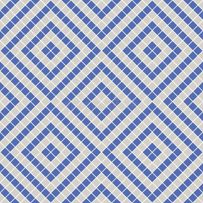 Modello geometrico decorativo di vettore senza cuciture fondo senza fine etnico con gli elementi decorativi ornamentali con etnic illustrazione vettoriale