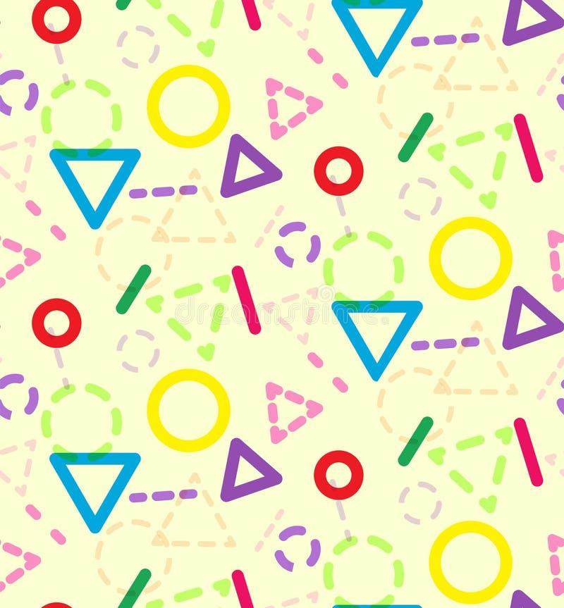 Modello geometrico dei bambini di colore astratto illustrazione di stock