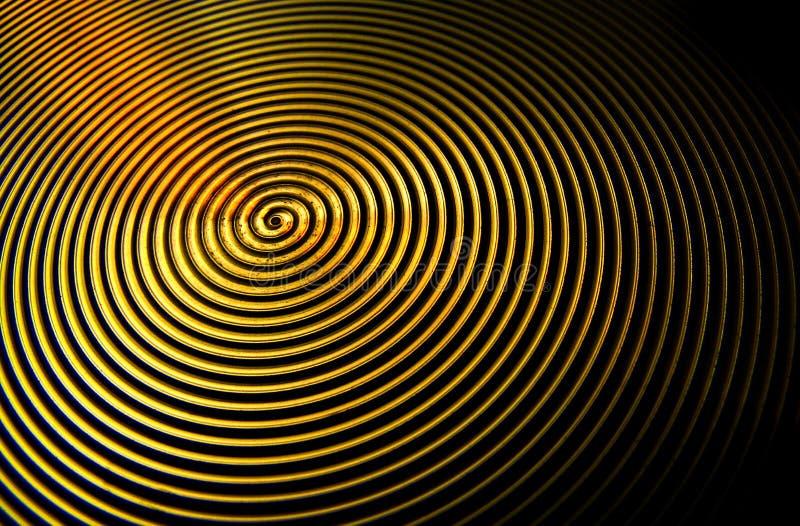 Modello geometrico dei cerchi nascosto in apparecchio per uso domestico illustrazione vettoriale
