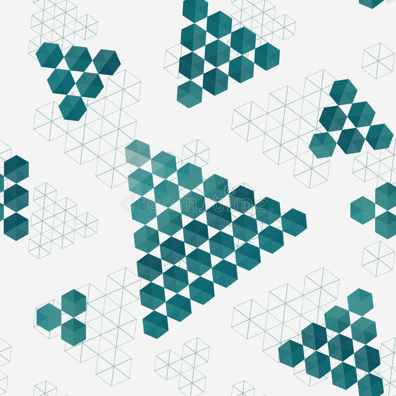 Modello geometrico dei triangoli di esagoni illustrazione di stock