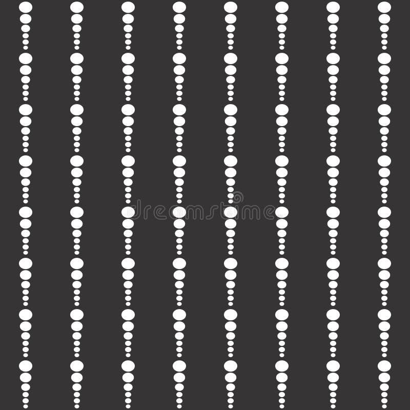 Modello geometrico del controllo senza cuciture in bianco e nero bianco dei punti e del backgrond nero Controlli, scacchiera royalty illustrazione gratis