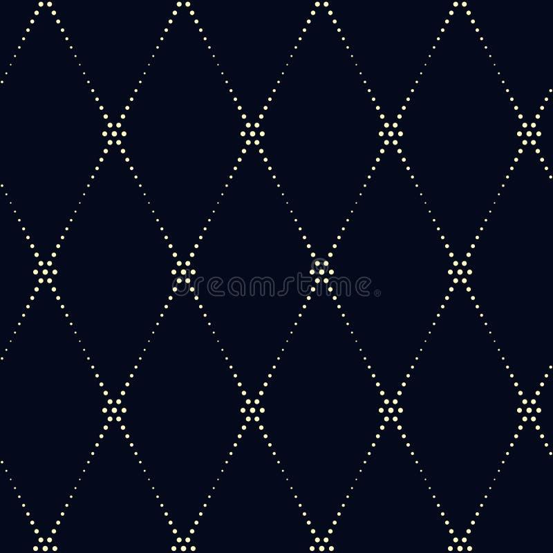 Modello geometrico del kimono Ornamento diagonale a linea tratteggiata su un ind royalty illustrazione gratis