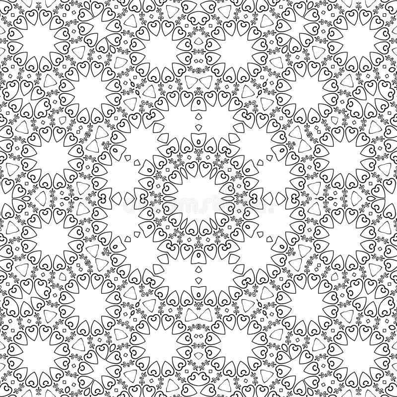 Modello geometrico del mosaico, anti sforzo dei cuori royalty illustrazione gratis