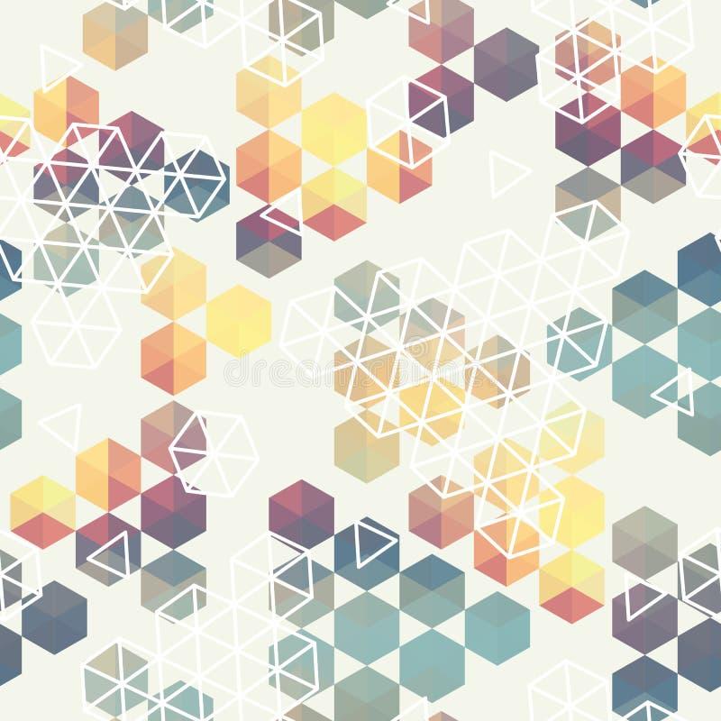 Modello geometrico del triangolo di esagono royalty illustrazione gratis